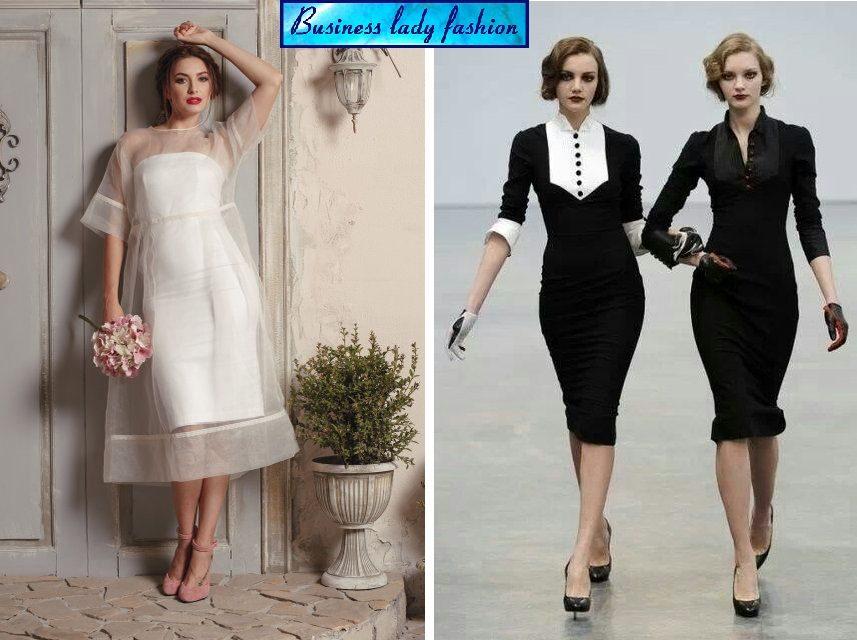 големи фустани - business lady fashion