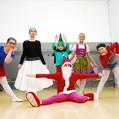 Tanz Weihnachtsmann und seine Freunde