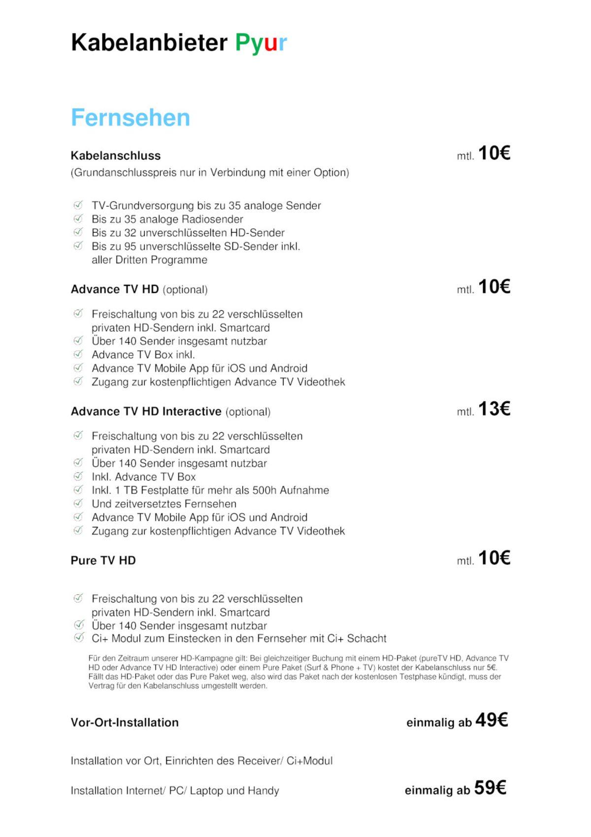 Angebote Kabelanschluss24