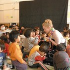 bringing music to children of Fukushima after the Tsunami, April/May 2011