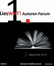 Hier ist das Veranstaltungsplakat des Autorenforums zu sehen.