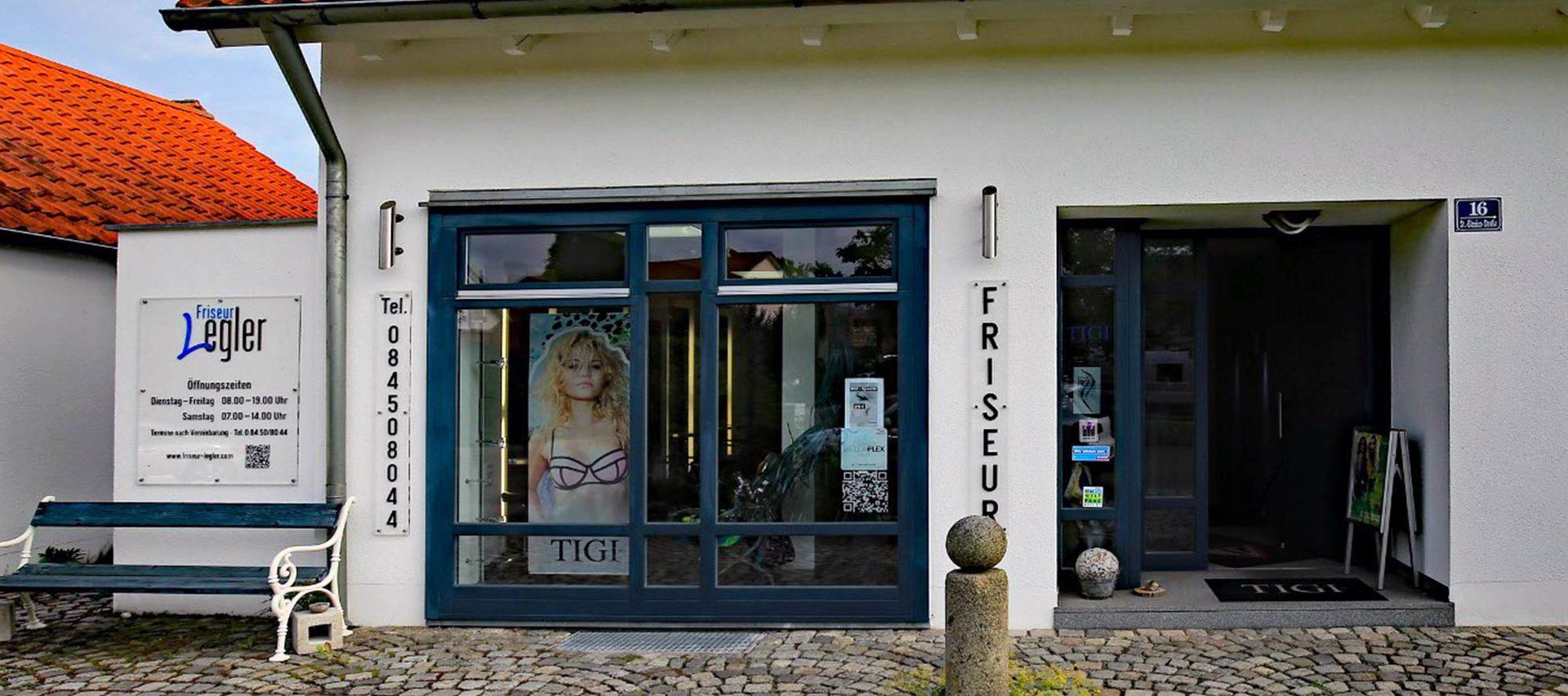 Friseur Legler Außenansicht Salon