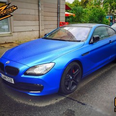 Vollfolierung BMW 6er Blau 2