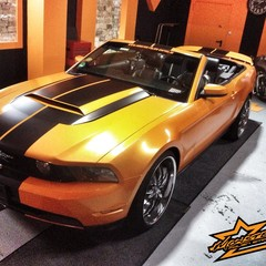 Vollfolierung Mustang Cabrio 3