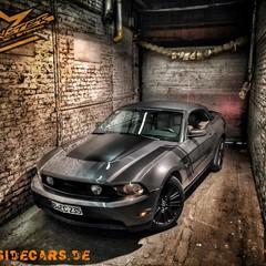 Vollfolierung Mustang Cabrio grau 1