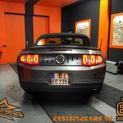 Vollfolierung Mustang Cabrio grau 4