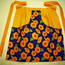 KS 8, Klammernschürze Sonnenblumen, Baumwolle