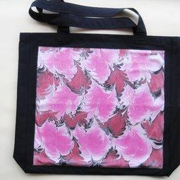 TM 6, pink gefuettert, Deckstoff marmoriert