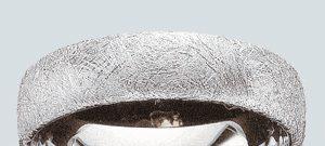 Trauring mit Eis- oder Kratzmatt Finierung