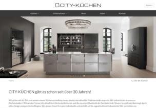 Webdesign für unseren Kunden CITY-KÜCHEN