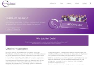 Webdesign für Rundum Gesund Physiotherapie in Berlin Wittenau