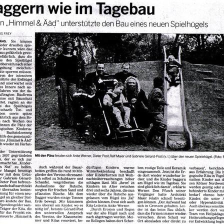 Quelle: Kölnische Rundschau 13.10.2009 - mit freundlicher Genehmigung