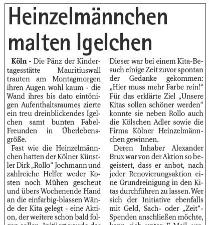 Quelle: Kölner Wochenspiegel 10.09.2008 - mit freundlicher Genehmigung