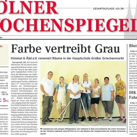 Quelle: Kölner Wochenspiegel 15.ß7.2009 - mit freundlicher Genehmigung