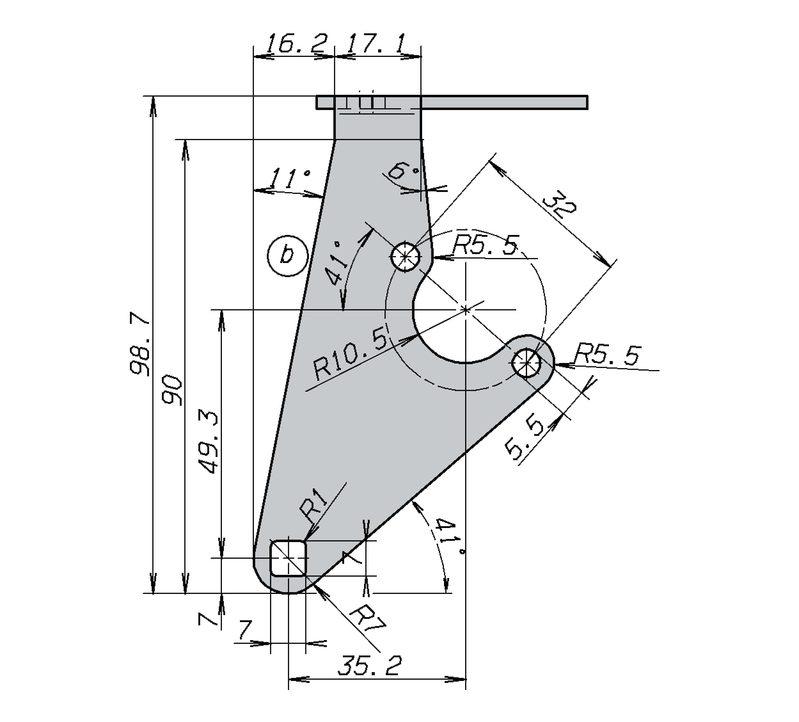 CAD Konstruktion Alu Halter , Laser Biege Bauteil
