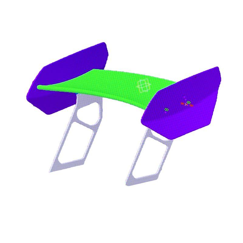 CAD Konstruktion Carbon  Heckflügel BMW Motorsport Bauteil
