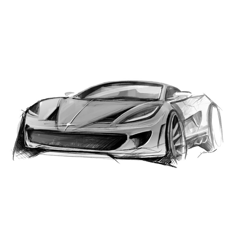 Design Entwurf Hypercar